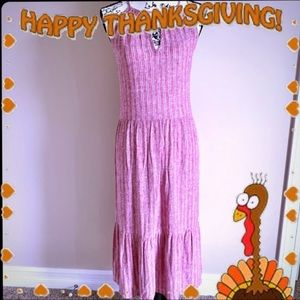 Universal Thread Goods Co Cranberry & White Dress
